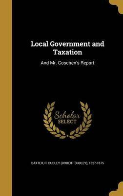 Local Government and Taxation