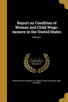 Report on Condition of Woman and Child Wage-Earners in the United States; Volume 7