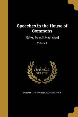 Speeches in the House of Commons