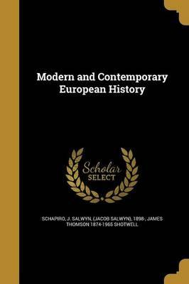 Modern and Contemporary European History