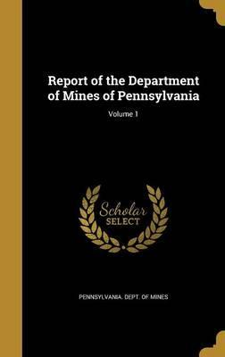 Report of the Department of Mines of Pennsylvania; Volume 1
