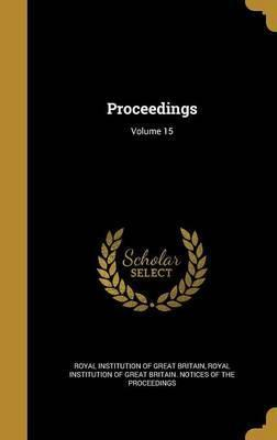 Proceedings; Volume 15