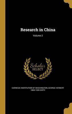 Research in China; Volume 2