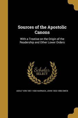 Sources of the Apostolic Canons