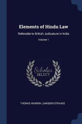 Elements of Hindu Law
