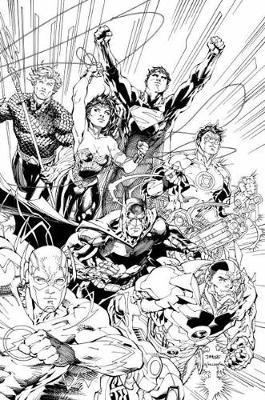 Justice League An Adult Coloring Book Various 9781401274047
