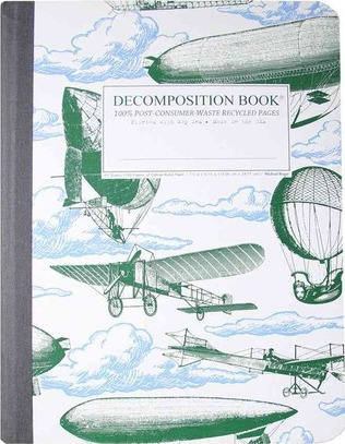 Airships Decomposition Book : College-Ruled Composition Notebook With 100% Post-Consumer-Waste Recycled Pages