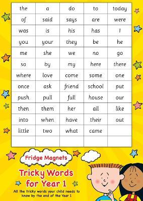 Fridge Magnets Tricky Words for Year 1