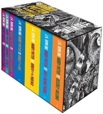 Harry Potter Boxed Set: The Complete Collection (Adult Paperback) Cover Image