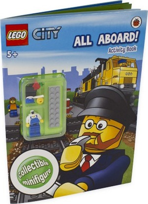 LEGO CITY: All Aboard! Activity Book with minifigure