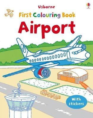 First Colouring Book with stickers