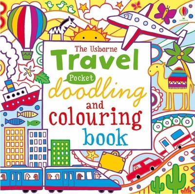 Travel Pocket Doodling and Colouring book