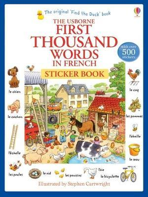First Thousand Words in French Sticker Book