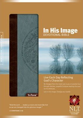NLT In His Image Devotional Bible Tutone Brown/Dusty Blue