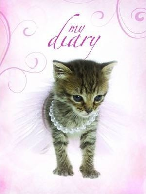 Sparkle Lock-up Diary - Kitten in Pearls