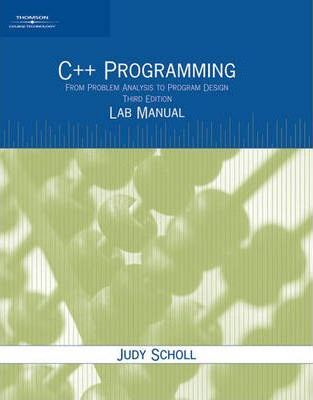 Lab Manual C Programming From Problem Analysis To Program Design