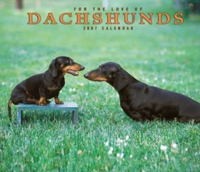 For the Love of Dachshunds 2007 Deluxe Calendar