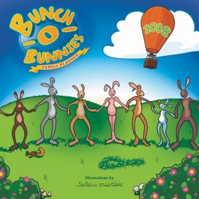 Bunch O' Bunnies Family Planner 2008 Square Wall