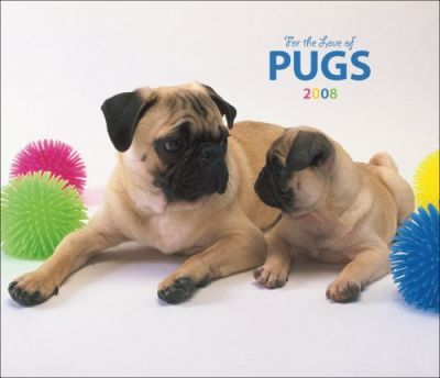 Pugs, for the Love of 2008 Deluxe Wall