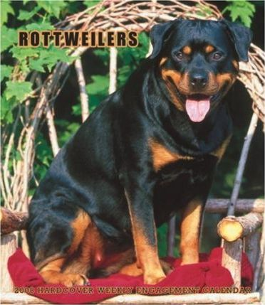Rottweilers 2008 Hardcover Weekly Engagement