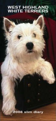 West Highland White Terriers 2008 Hardcover Slim Diary