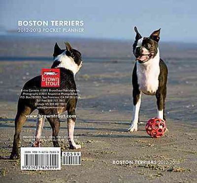 Boston Terriers 2012-2013 Two Year Pocket Planner