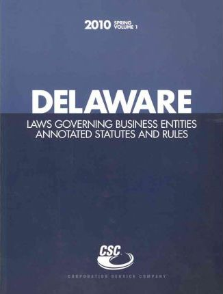 Delaware Laws Governing Business Entities 2010
