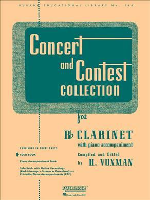 Concert and Contest Collection for Bb Clarinet : With Piano Accompaniment: Solo