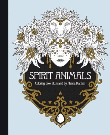 Spirit Animals Coloring Book Cover Image