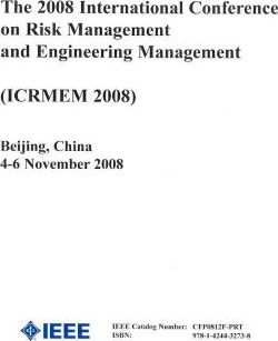 Proceedings The International Conference on Risk Management and Engineering Management 2008