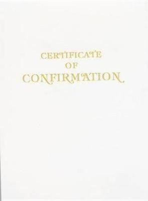 Contemporary Steel-Engraved Confirmation Certificate (Pkg of 3)