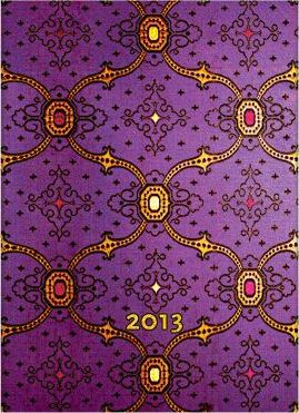 2013 FRENCH ORNATE VIOLET MICRO DIARY