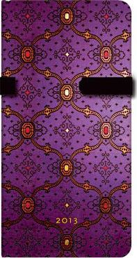 2013 French Ornate Violet Slim Week-at-a-time Dayplanner