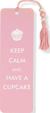 Beaded Bookmark Keep Calm/Cupcake