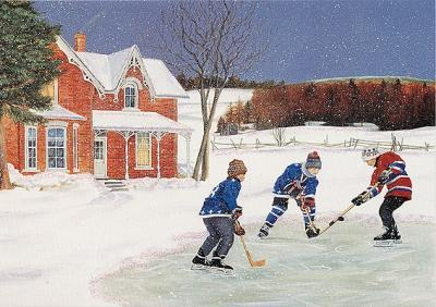 After School Hockey Large Boxed Holiday Cards