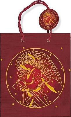 Deluxe Gift Bag Holiday Gold Angel
