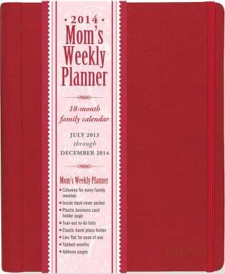 2014 Mom's Weekly Planner Red