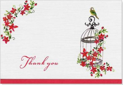 Thank You Notes Birdcages