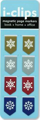 Snowflakes Iclip Magnetic Bookmark