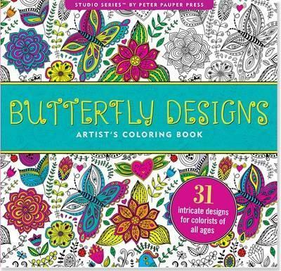 Butterfly Designs Artist\'s Coloring Book (31 Stress ...