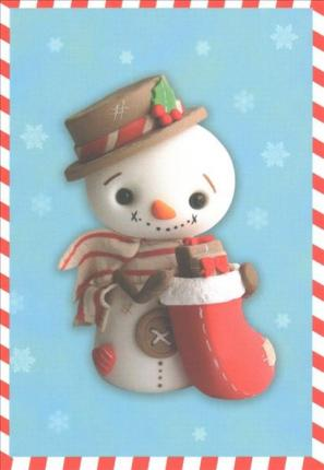 Sweet Snowman Small Boxed Holiday Cards