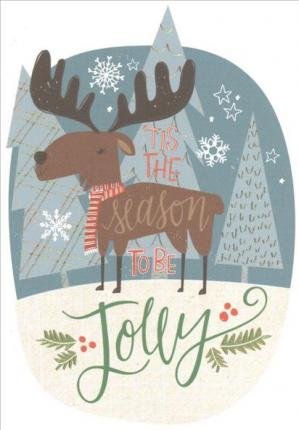 Merry Moose Small Boxed Holiday Cards