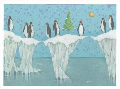 Penguin Party Deluxe Boxed Holiday Cards