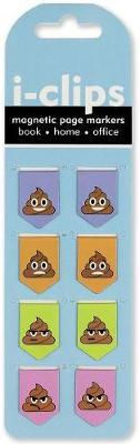 Poop I-Clips Magnetic Page Markers (Set of 8 Magnetic Bookmarks)