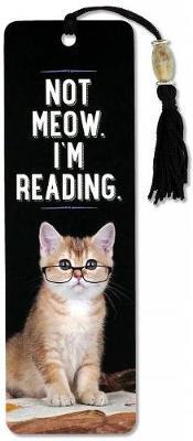 Beaded Bkmk Not Meow I'm Reading