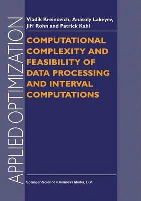 Computational Complexity and Feasibility of Data Processing and Interval Computations