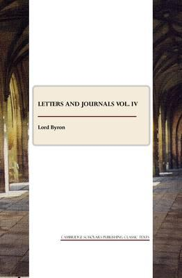 Letters and Journals vol. IV Cover Image