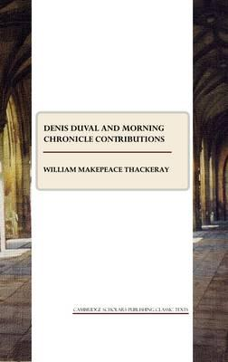 Denis Duval and Morning Chronicle Contributions Cover Image