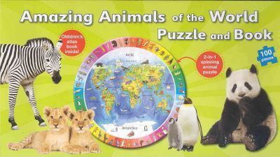 Amazing Animals of the World Puzzle and Book