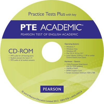 Pearson Test of English Academic Practice Tests Plus CD-ROM with key for Pack